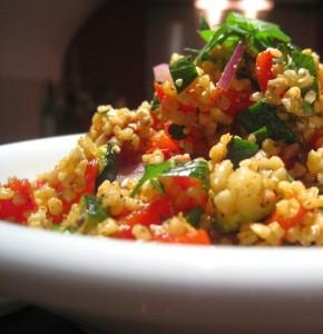 Sportkeuken Recept: Bulgur/Quinoa-salade met gegrilde groentes